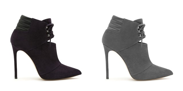 casadei suede leather low boots 2014-2014