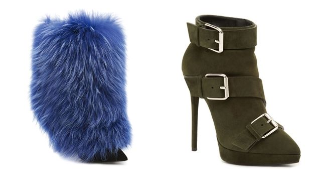 blue fur boots and military style Giuseppe Zanotti Fall/Winter 2014-2015 collection