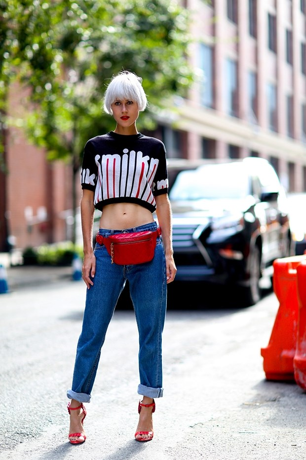 Printed Crop Top Street Style NYFW SS 2015