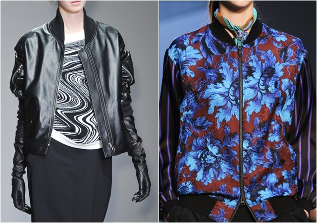 bomber leather and pajama style Jackets fall winter 2014-2015
