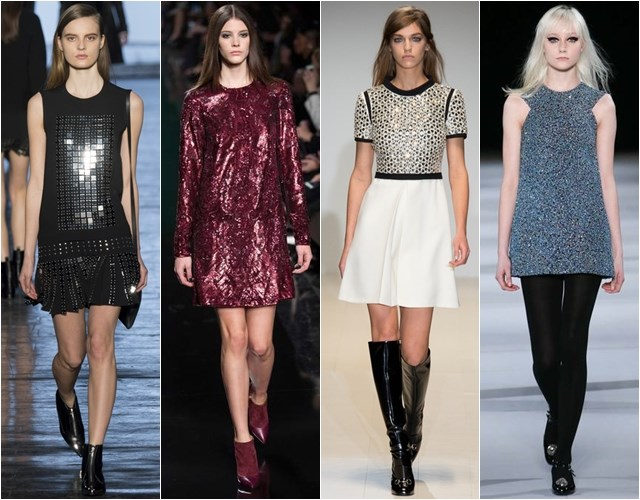 Sparkling and sequin cocktail dresses Fall-Winter 2014-2015