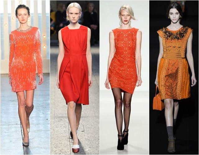 Orange cocktail dresses Fall-Winter 2014-2015