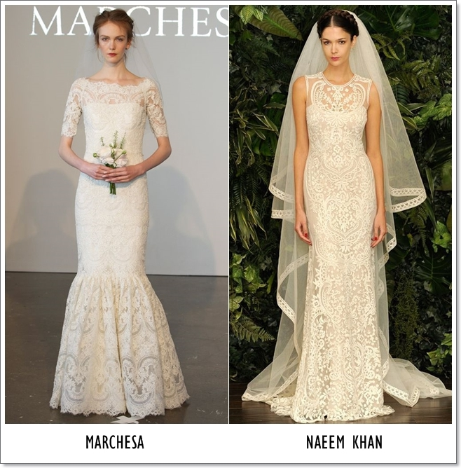 Barocco printed lace bridal dresses 2014-2015
