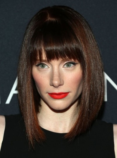 Bob Cut Hairstyles for narrow face with bangs