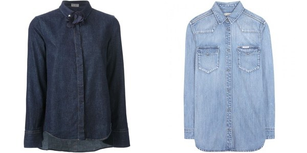 Casual ladies denim shirts 2014-2015