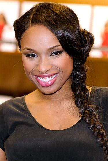 Jennifer Hudson Braided Hairstyle for Dark Hair