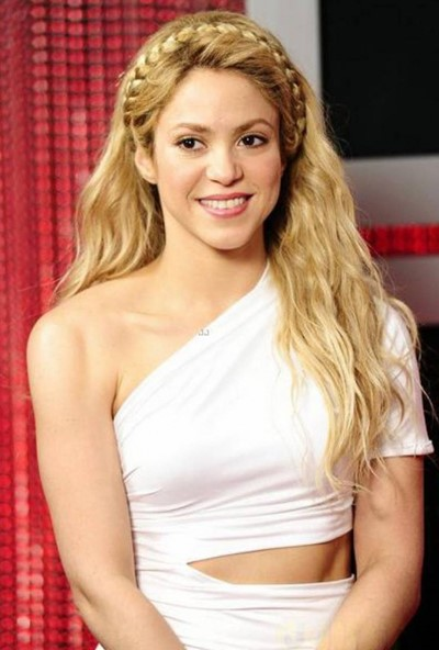 Shakira Braided Hairstyle for Blonde Hair