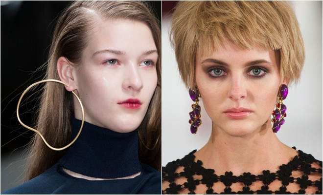 hoop and gem earrings 2014-2015 Fall-Winter