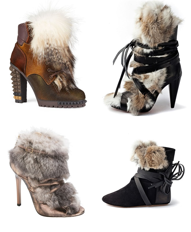 Fur Ankle Boots 2014-2015 Fall-Winter Trends