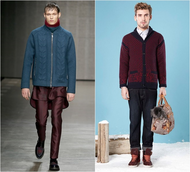 Zipped and Buttoned Men's Knitted Cardigans 2014-2015 Fall-Winter  (8)