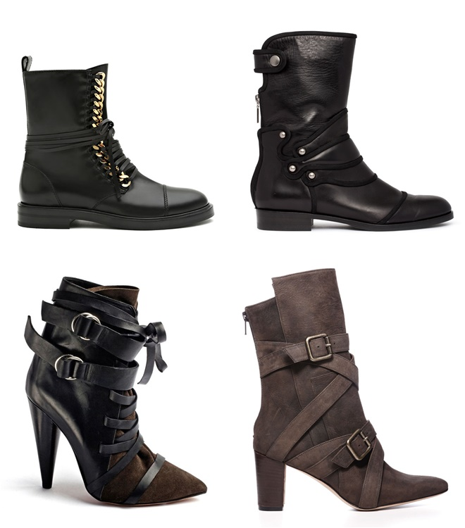 Military Style Ankle Boots 2014-2015 Fall-Winter Trends