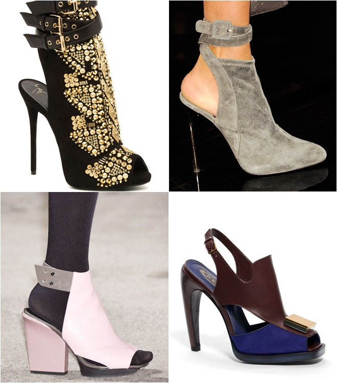 Open Heel Low Boots 2014-2015 Fall-Winter Trends