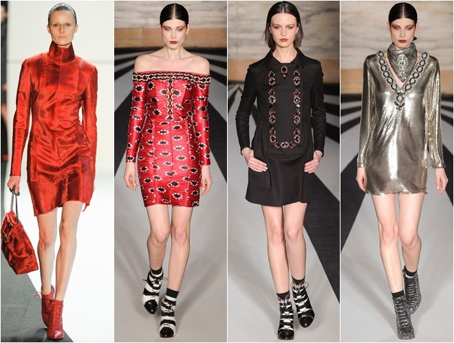 Short Dresses with Long Sleeves Fall-Winter 2014-2015  (Akris, Matthew Williamson)