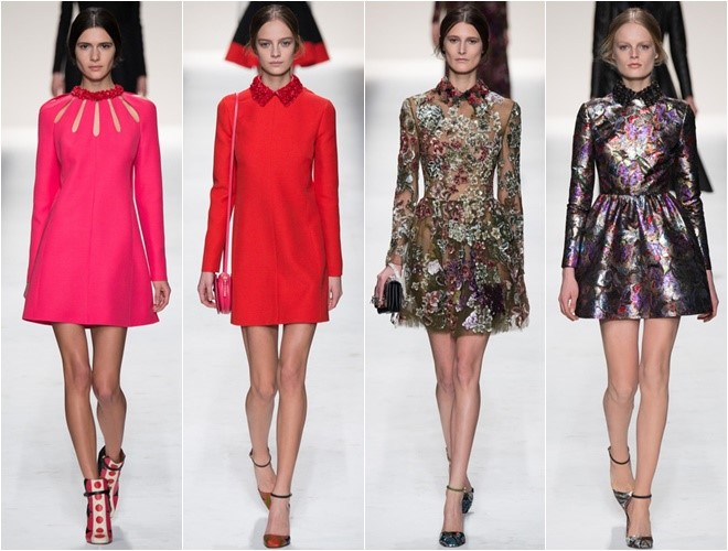 Short Dresses with Long Sleeves Fall-Winter 2014-2015  (Valentino)
