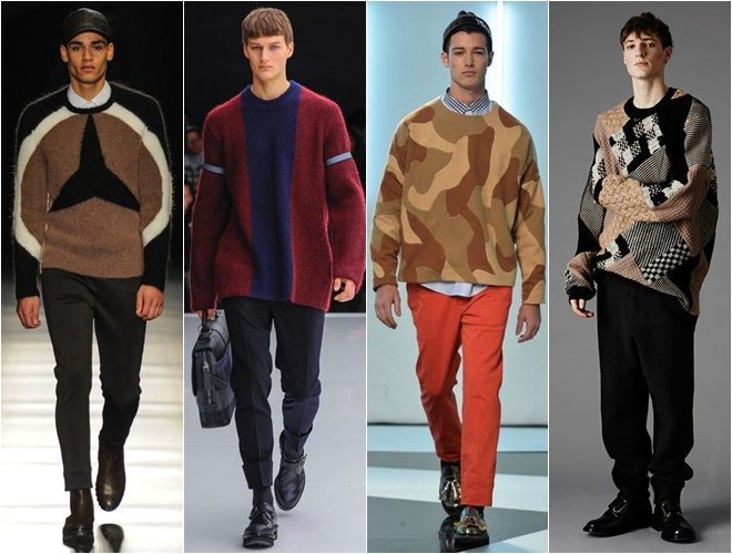 brown beige printed mens sweaters fall-winter 2014-2015 (15)