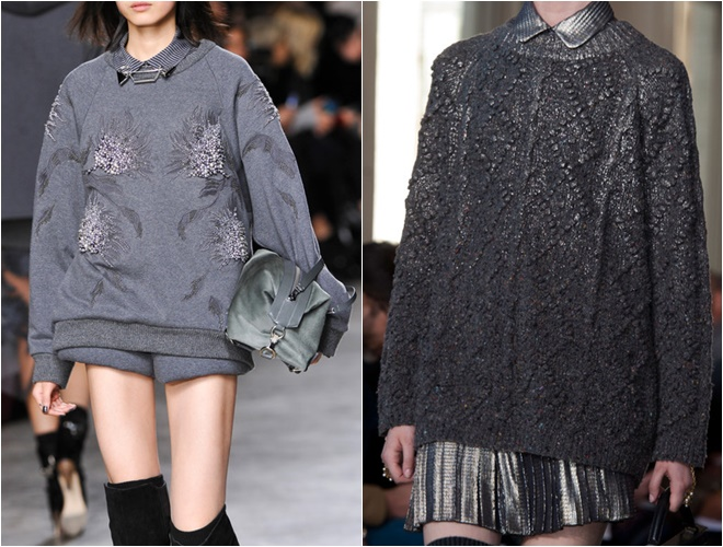 grey womens sweaters 2014-2015 fall-winter trends