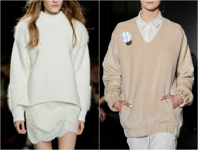 mohair and cashmere womens sweaters 2014-2015 fall-winter trends