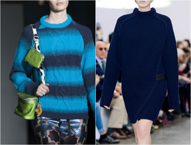 shades of blue womens sweaters 2014-2015 fall-winter trends