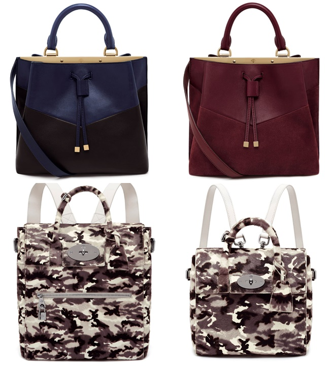 Mulberry Dark and Military Handbags Fall-Winter 2014-2015