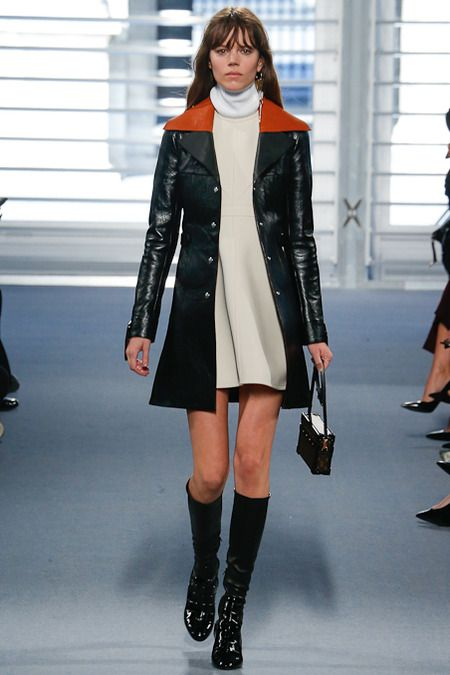 louis vuitton leather coat fall-winter 2014-2015