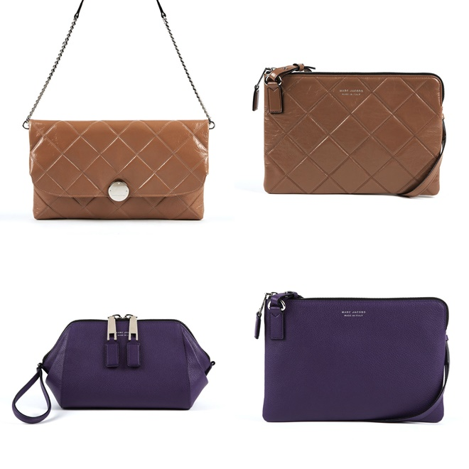 marc jacobs purple and beige purses 2014-2015
