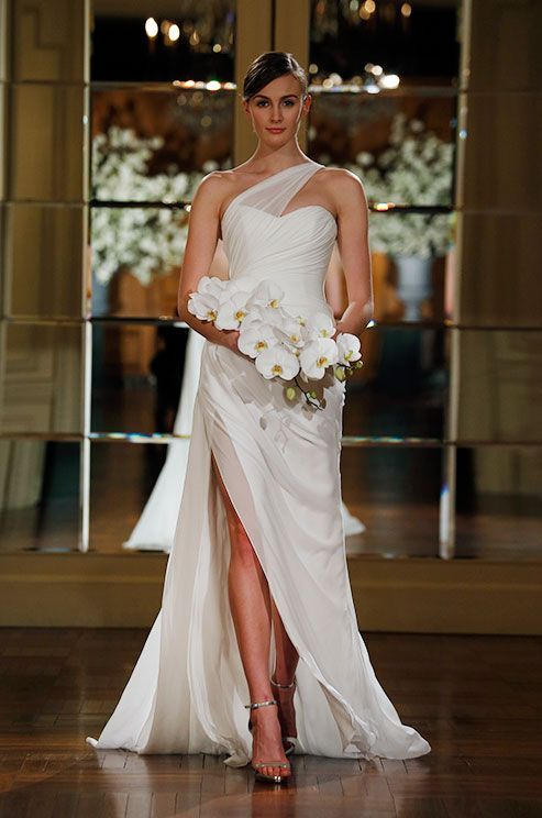 asymmetric bridal dress 2015