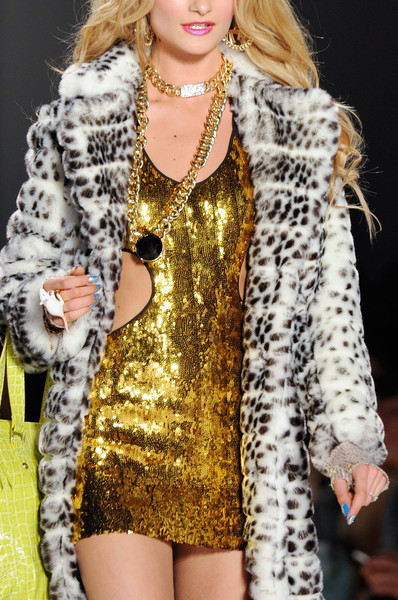 Faux fur coats Winter 2015 Betsey Johnson