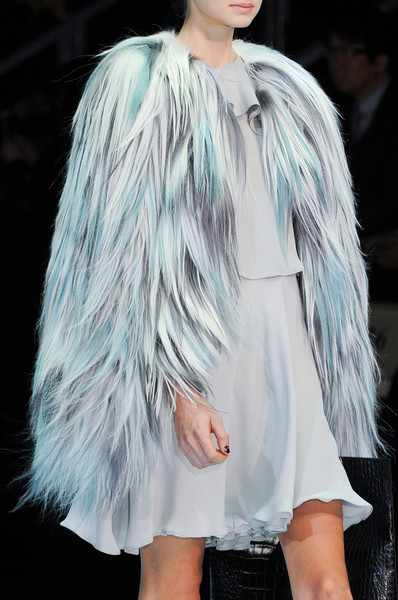 Faux fur coats Winter 2015 Emporio Armani