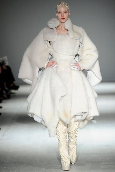 Faux fur coats Winter 2015 Gareth Pugh