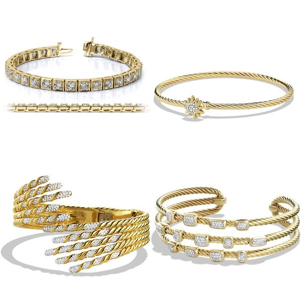 Gold Diamond Bracelets Trends 2014-2015  (3)