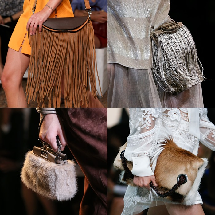 Fringe and fur bags Spring-Summer 2015