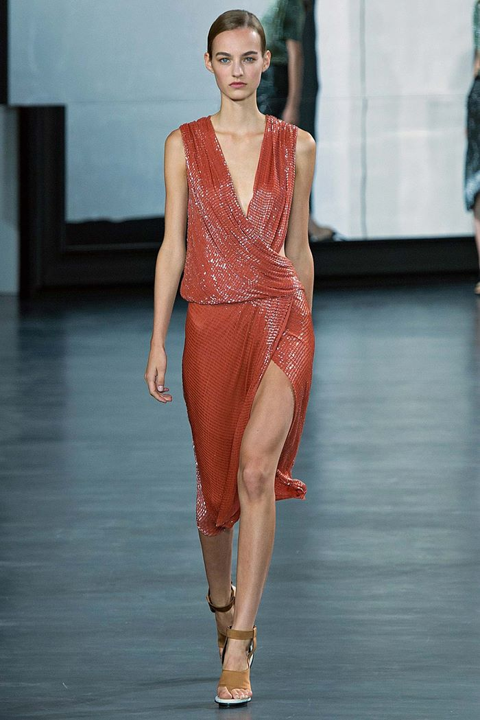 Jason Wu  red dress spring summer 2015