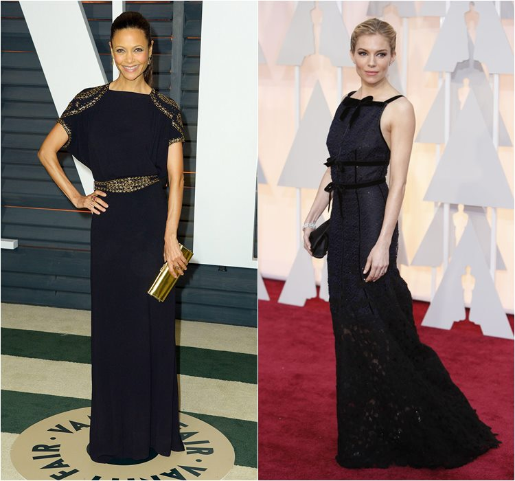 Oscar 2015 dresses: Thandie Newton and Sienna Miller