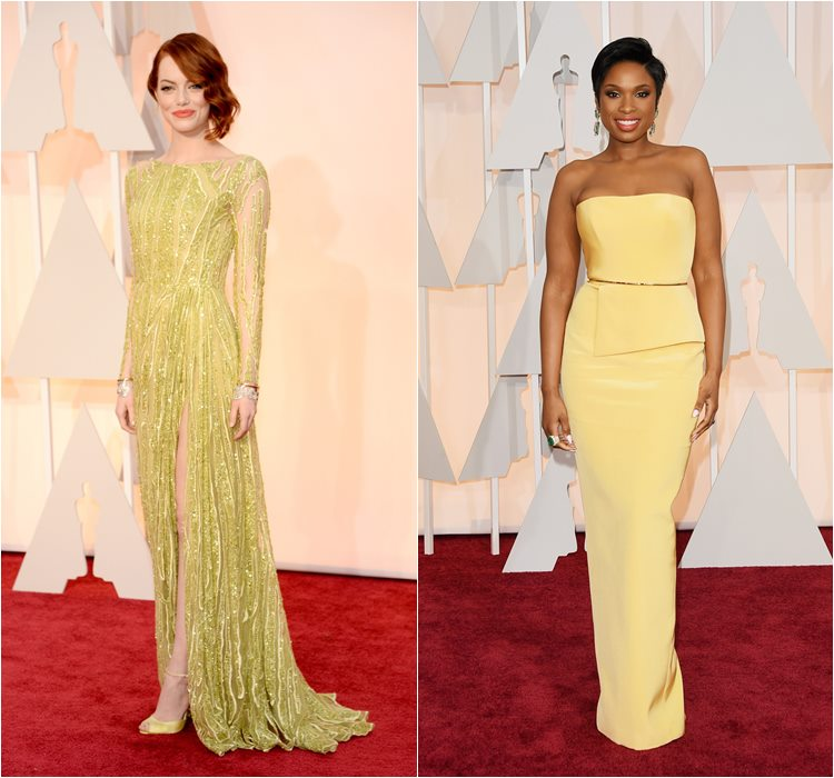 Oscar 2015 dresses: Emma Stone and Jennifer Hudson