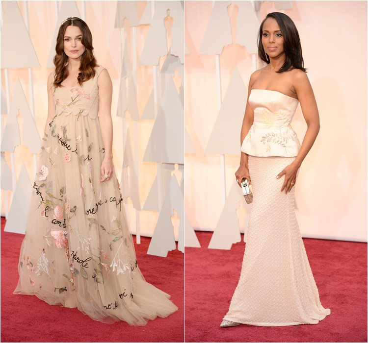 Oscar 2015 dresses: Keira Knightley and Kerry Washington