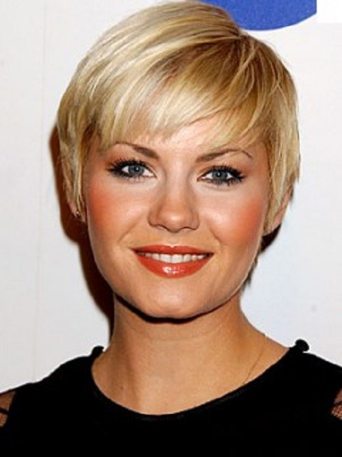 Elisha Cuthbert short hairstyles for chubby face