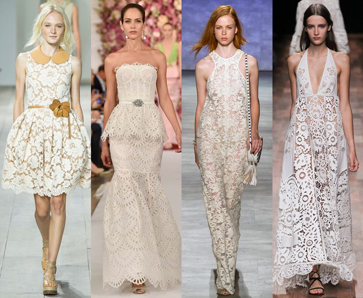 Carved lace dresses spring summer 2015