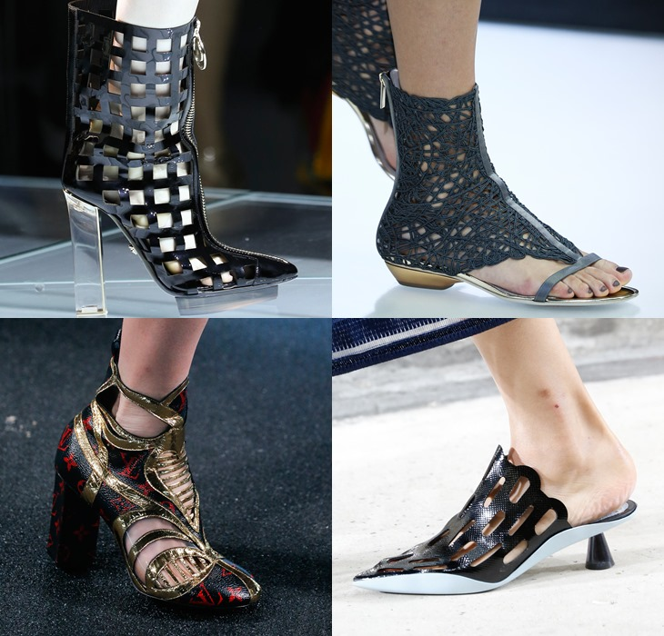 Lace and perforated breathable shoes spring summer 2015