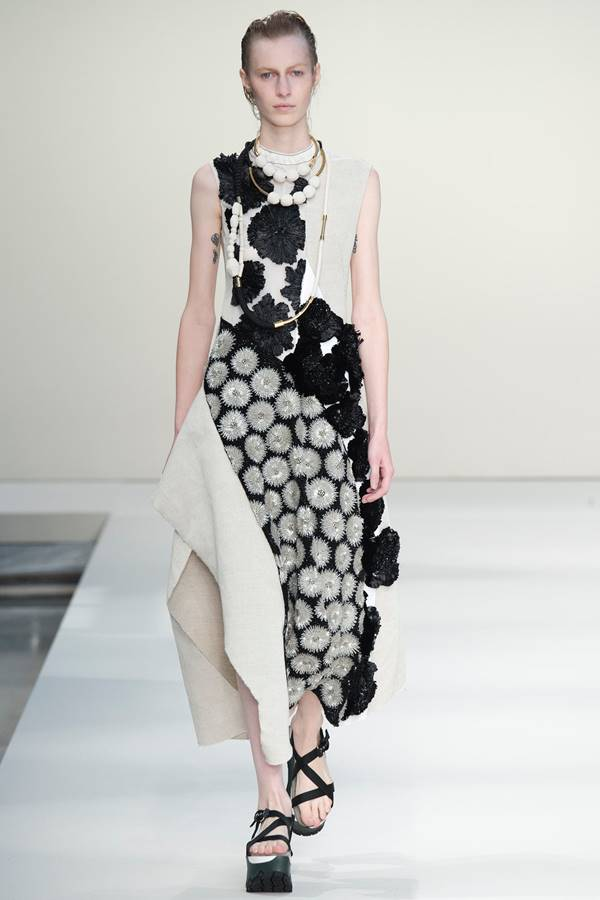 Marni  black and white dress spring summer 2015
