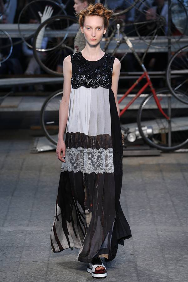 Antonio Marras black and white dress spring summer 2015