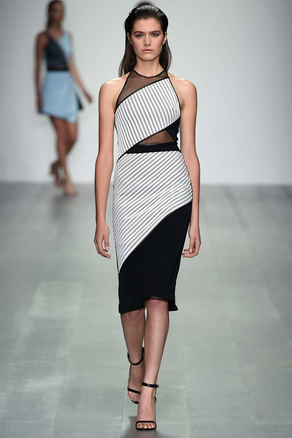 David Koma black and white dress spring summer 2015