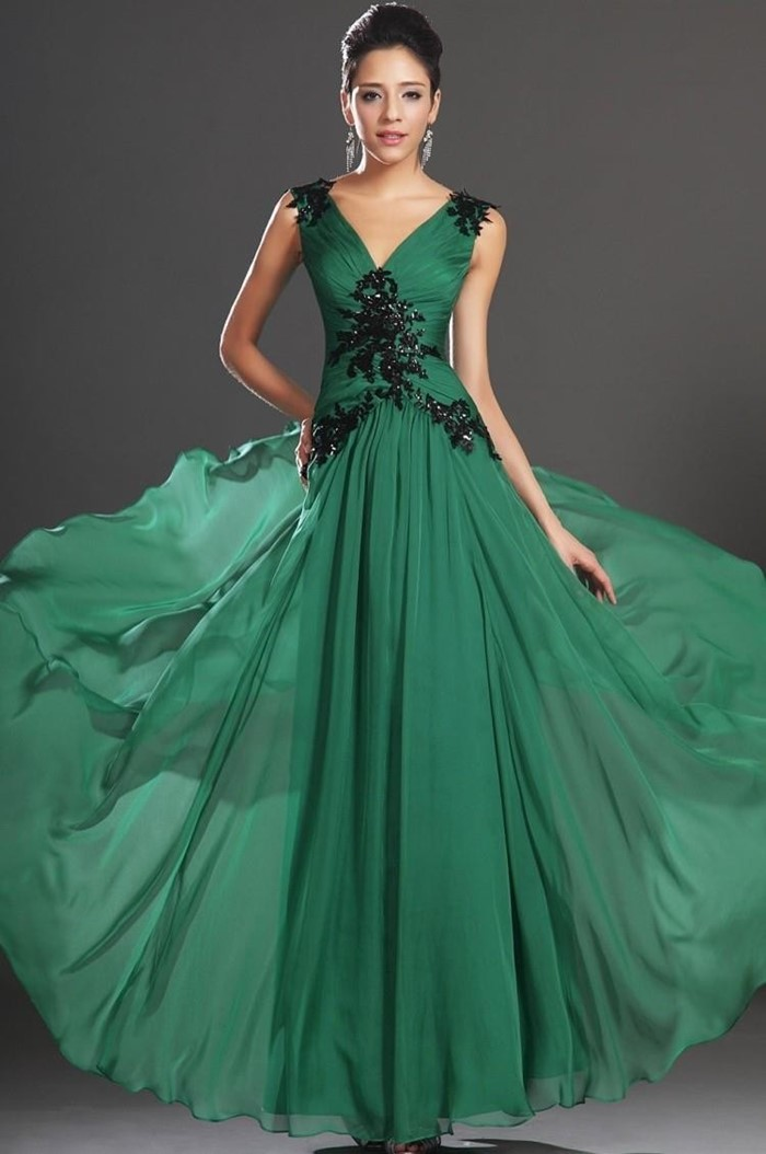 dark green prom dress 2015