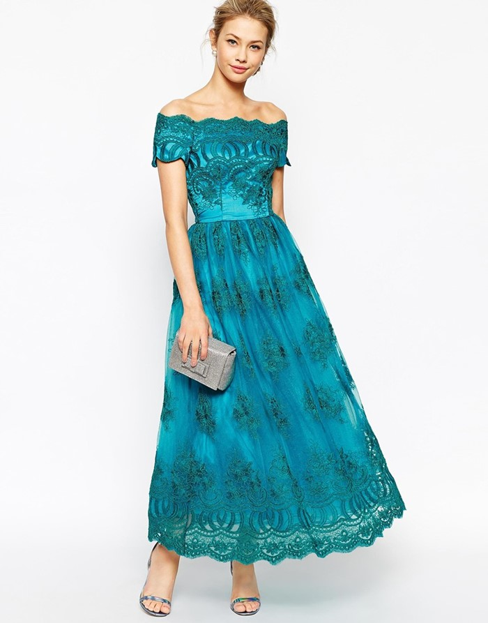 lace turquoise prom dress 2015