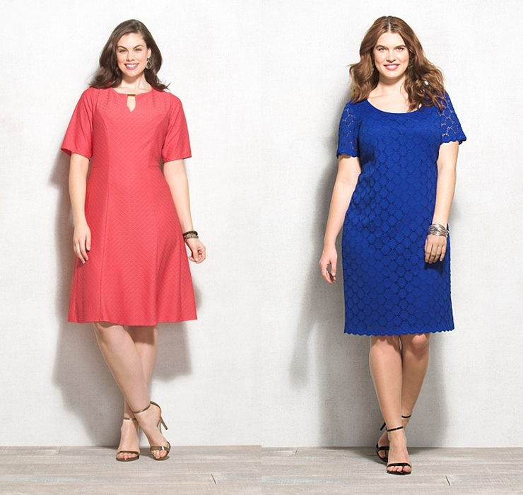 coral and blue plus size summer dresses 2015