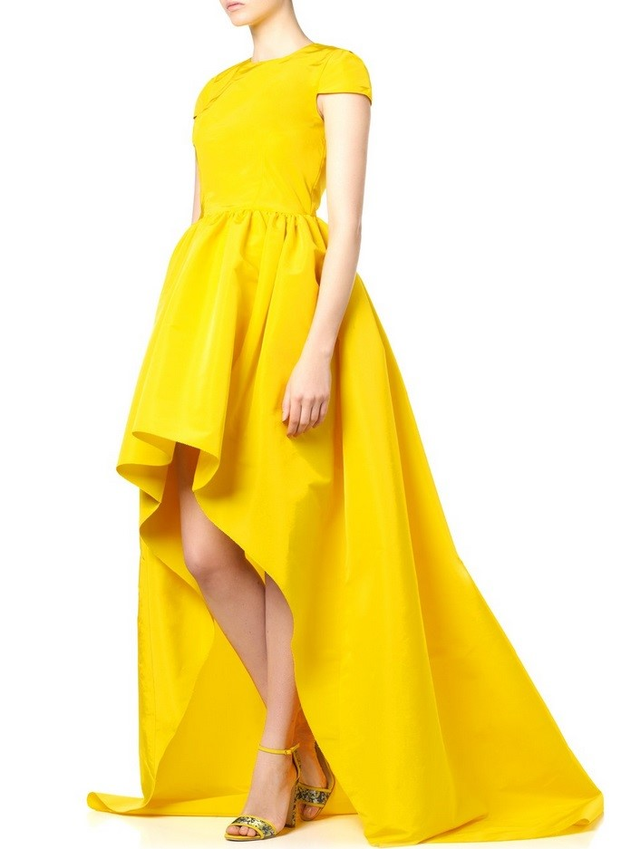 high low yellow prom dress 2015