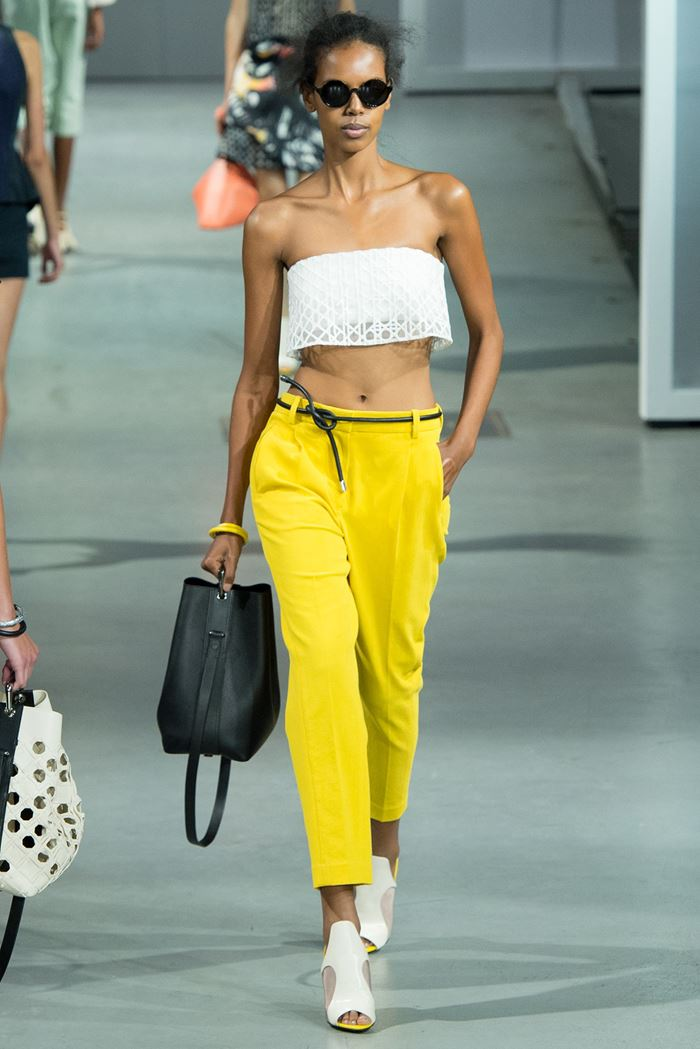 3.1 Phillip Lim yellow cropped pants spring-summer 2015