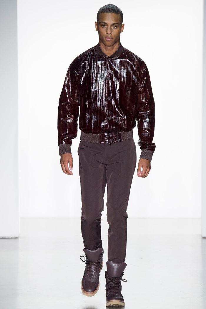 Calvin Klein Collection men's leather jacket 2015
