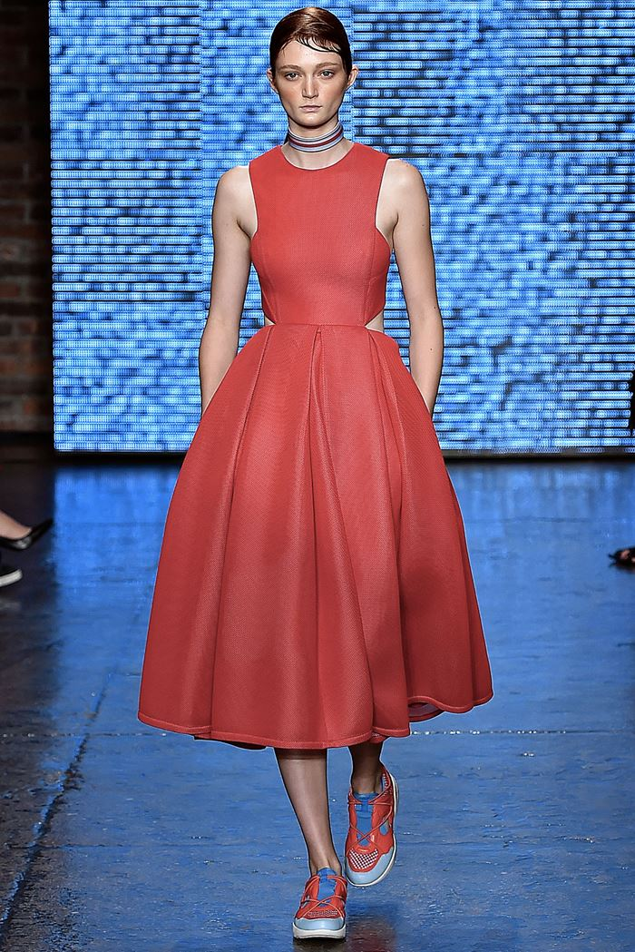 DKNY red dress spring-summer 2015