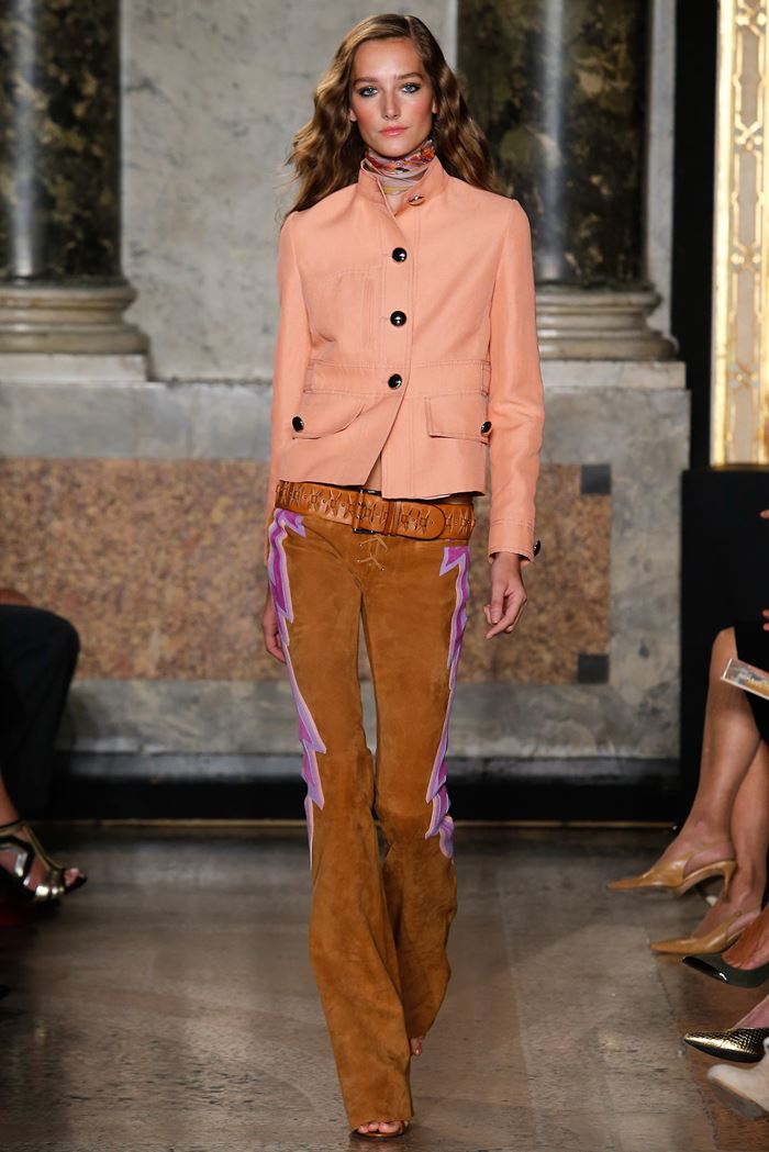 Emilio Pucci suede brown pants spring-summer 2015