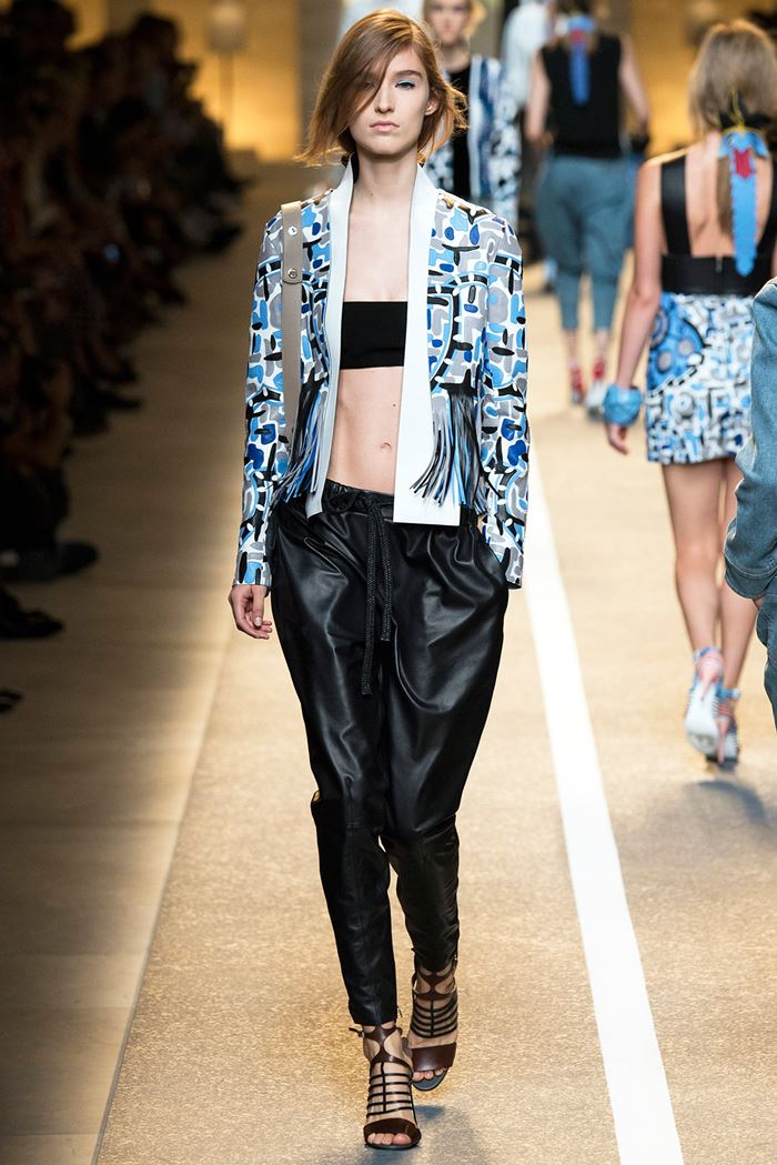 Fendi black leather pants spring-summer 2015